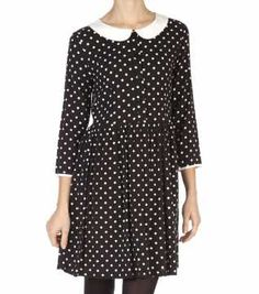 Betty Dress Polka Dot Top, Style Inspiration, Fashion Outfits, Black And White, Clothes, Tops, Dresses, Women, Outfits