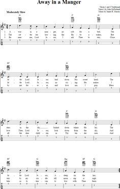 Free ukulele sheet music for Away in a Manger with chord diagrams, lyrics, and tablature. Ukulele Tabs Songs, Music Tabs, Ukulele Chords, Im Yours Ukulele, Away In A Manger, Instrument Sounds, Me Me Me Song, Back Home, Helpful Hints
