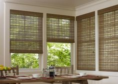Eco-Friendly Tandem Woven Woods are extremely eco-friendly. The tandem feature allows for a solar, room darkening or light filtering so you can control the level of light filtration and privacy.
