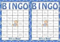 baby shower bingo ideas