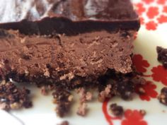 No Bake Low Carb Gluten Free Double Chocolate Cheesecake - served chilled, good for Summer