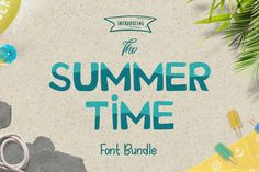 The summer time font bundle, Packed with 27 Summer Style Fonts from 19 Different Font Families, you can save a HUGE 92% off the RRP.  For a limited time only this fully accessible bundle is available at a saving of $207.