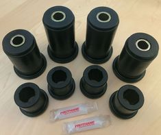 Prothane 6-105-BL 66-79 F100,F150,F250,F350 4WD Body Mount Bushing Kit 12-piece