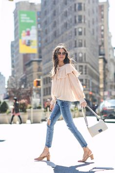 I got a little too excited the other day when getting dressed since I was able to wear some Spring-ish pieces. I loved the color of this top paired with my distressed Zara denim. I also could not wait to style these Chanel shoes I bought a month ago way too prematurely. I loved the … Continued