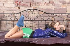 Shiny Nylon Jacket , Adidas Shorts