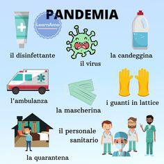 #Pandemia #vocabolario #italian #learnitalian #speakitalian Italian Grammar, Italian Vocabulary, Italian Words, English Vocabulary Words, Italian Language, Italian Phrases, Italian Alphabet, Italian Lessons, Italian Lifestyle
