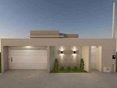 56 ideas house facade render home for 2019 is part of Facade house - House Front Design, Modern House Design, Exterior Wall Design, Exterior Paint, Bungalow Haus Design, Facade House, House Facades, House Entrance, Modern House Plans