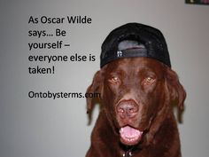 Like Oscar Wilde says... Be Yourself! Everyone else is already taken.
