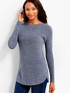 Marled Bateau Sweater