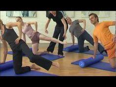 Pilates DVD - Eine Stunde für den Rücken - Übungen Pilates Roller - Ausschnitte - YouTube