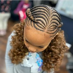 Kids Cornrow Hairstyles, Toddler Braided Hairstyles, Little Girl Braid Hairstyles, Feed In Braids Hairstyles, Natural Braided Hairstyles, Braids Hairstyles Pictures, Natural Hair Braids, Natural Hairstyles For Kids, Baby Girl Hairstyles