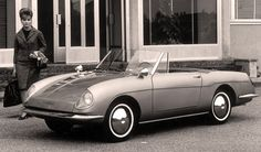 http://chicerman.com  carsthatnevermadeit:  Autobianchi Stellina 1964. Designed byLuigi Rapi and first presented at the 1963 Turin motor show. The Stellina was based on the rear-engined Fiat 600 but used a fibreglass body and 767cc engine only 502 Stellinas were made before they were discontinued in 1965 and replaced by the Fiat 850 Spider  #cars