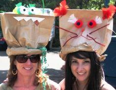 een hoed van papieren zakken Kids Entertainment Paper Bag Hats
