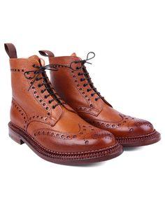 Grenson MEN'S Fred Triple Welt Brogue Boot TAN 5068G 423 | eBay