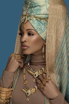 african beauty The Neelam Look Black Women Art, Beautiful Black Women, Black Girls, African Beauty, African Women, African Fashion, Mode Turban, African Goddess, Style Africain