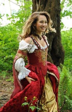 Silken Italian dress-- Florentine I think.