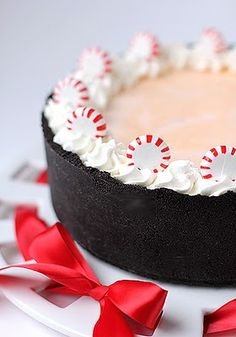 Peppermint Torte.  Served Christmas Eve.  It was delicious and turned out just as beautiful as in the pic!