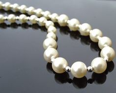 Epitomising the simple and classic elegance of the this luscious pearl necklace makes a timeless and welcome addition to any jewel box. Gold And Silver Bracelets, Sterling Silver Necklaces, Beaded Bracelets, Bridal Necklace, Pearl Necklace, Wedding Necklaces, Wedding Looks, Chic Wedding, Bride And Groom Presents