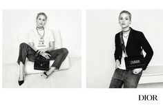 Actress Jennifer Lawrence wears Dior 'We Should All Be Feminists' t-shirt in brand's fall 2017 campaign