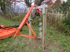 Posthole Digger PTO-driven post hole auger suggestions - Page 5 Farm Tools, Garden Tools, Tractor Drawbar, Tractor Seats, Farm Projects, Welding Projects, Diy Welding, Welding Table, Farm Hacks