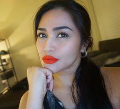 "MAC Cosmetics retro matte liquid lip colour in ""Quite the Standout""  #makeup #MacCosmetics #liquidlipcolor"