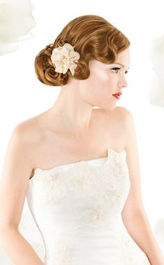 Finger Waves Wedding Hairstyle