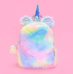 Cute Plush Unicorn Mini Backpack   Handbag 21e4799d5b08b