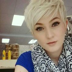 Image result for pixie cut for fat faces