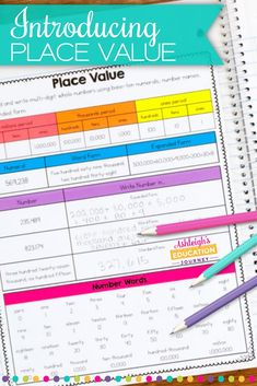 We have hit the ground running with our place unit. I typically enjoy teaching place value because it lends itself to hands-on activities that help students develop a conceptual understanding. I started the year with Read and write multi-digit. Place Value Activities, Math Place Value, 4th Grade Activities, Addition Activities, Values Education, Education Quotes For Teachers, Math Education, Special Education, Teaching Place Values