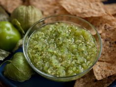 Salsa Verde: Green Tomatillo Salsa recipe from My Country, My Kitchen via Food Network