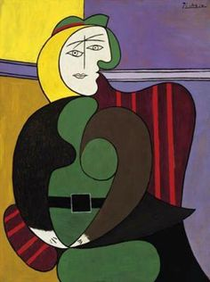 The Red Armchair: 1931 Pablo Picasso (Art Institute, Chicago, IL)