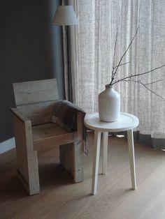 PURE stoel van steigerhout