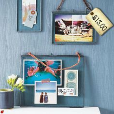 These Kiko Glass Frames MUST be looked at; Stunning Genius. Perfect way to display old letters, postcards, tickets and memorabilia.