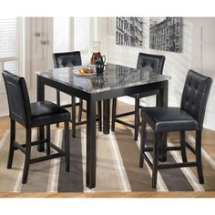 Nola Dining Room Table And Chairs (Set Of 5)