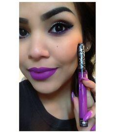 Kat Von D Everlasting Liquid Lipstick in L.U.V. My first purple shade purchase.  ♥K