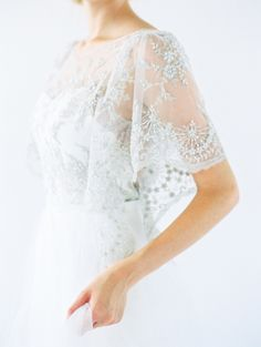 Silk and Lace Modern Wedding Gowns from Saint Isabel - Utterly Engaged