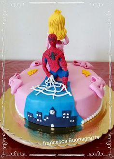 Torta spiderman /principessa double Face