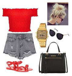 """""""Red."""" by frenkiefashion on Polyvore featuring Givenchy, Miss Selfridge, Tommy Hilfiger and Casio"""