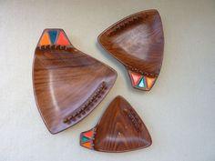 Set of 3 Tiki Fantastic Nesting Ash Trays by salvagedspace on Etsy, $32.00