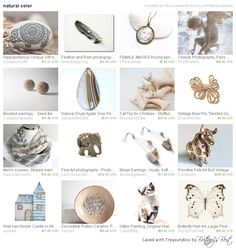 Natural Color, a lovely treasury by LoraViBeadJewelry, includes our vintage bow pin!
