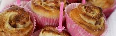 Bursdagsboller med Daim Mini Cupcakes, Scandinavian, Bakery, Muffin, Breakfast, Desserts, Food, Morning Coffee, Tailgate Desserts