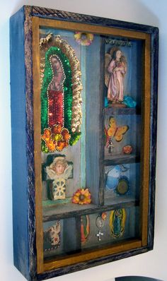 upcycled vintage shadow box