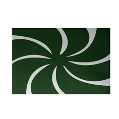 The Holiday Aisle Decorative Holiday Geometric Print Dark Green Indoor/Outdoor Area Rug Rug Size: 2' x 3'