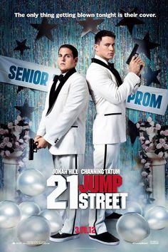 21 Jump Street , starring Jonah Hill, Channing Tatum, Ice Cube, Brie Larson. A pair of underachieving cops are sent back to a local high school to blend in and bring down a synthetic drug ring. #Action #Comedy #Crime