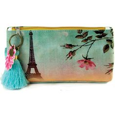 Papaya! Art Small Eiffel Tower Accessory Pouch