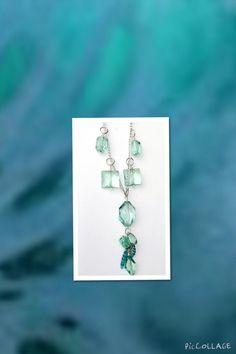 Aquamarine Dangle Handmade Boho Chic Necklace di Creationlily