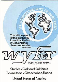 QSL Card From WYFR. QSL Card From Shortwave Radio Station WYFR, Okeechobee, Florida, USA