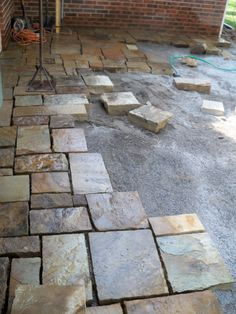 Lost Somehow But Nice Heavy Stone Paver Patio