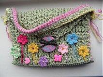 Detské tašky - detská zelená taštička - 4044206_