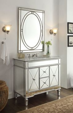 Bathroom Vanity With Mirror 42 inch bathroom vanity with offset sink (saving to show how